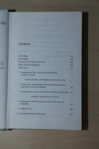 Cess-book-Inclusive Growth in India-2007-contents